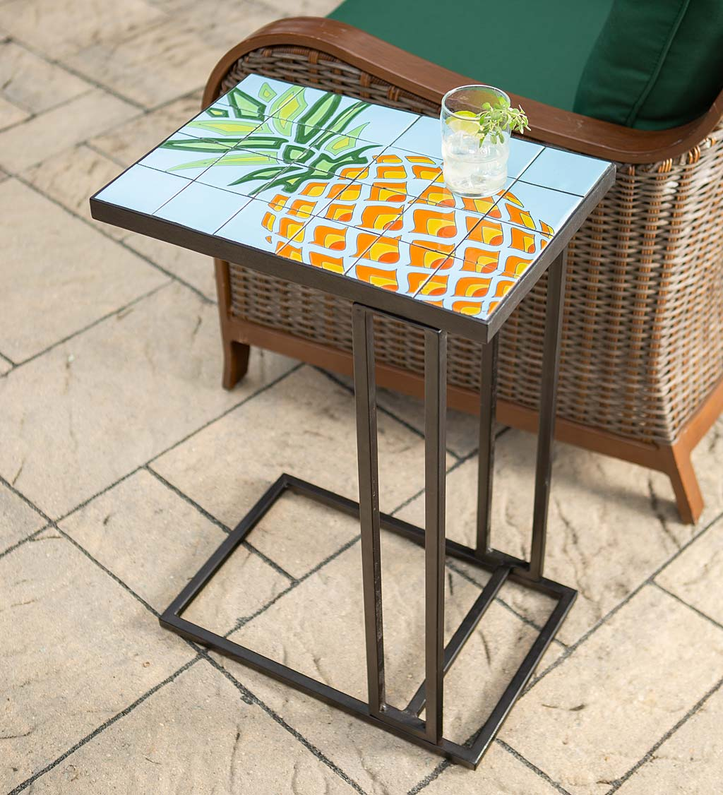 Pineapple Ceramic Tile Pull-Up Table