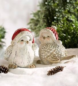 Holiday Bird Accents, Set of 2