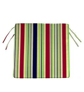 "Sale! Polyester Classic Chair Cushions With Ties, 16""sq. x 3"""