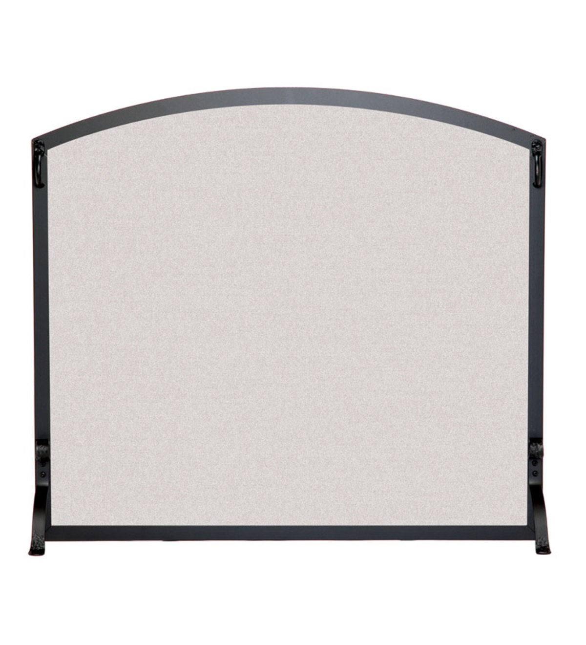 Small Flat Fireplace Screen With Arched Top