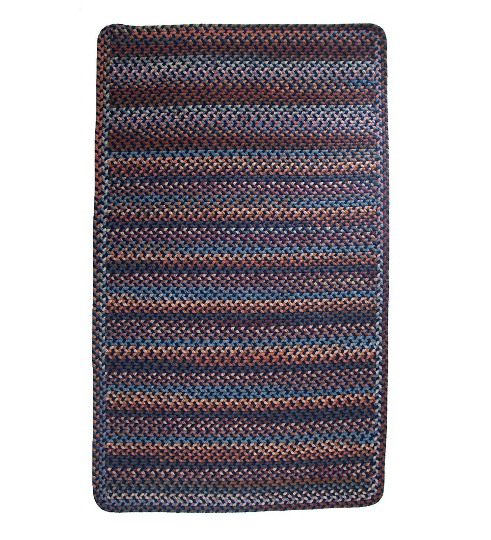 Blue Ridge Rectangle Wool Braided Rug, 8' x 11'