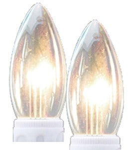 Outward-Facing LED Replacement Bulbs, Set of 2