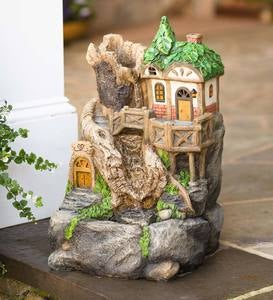 Solar Fairy House Fountain