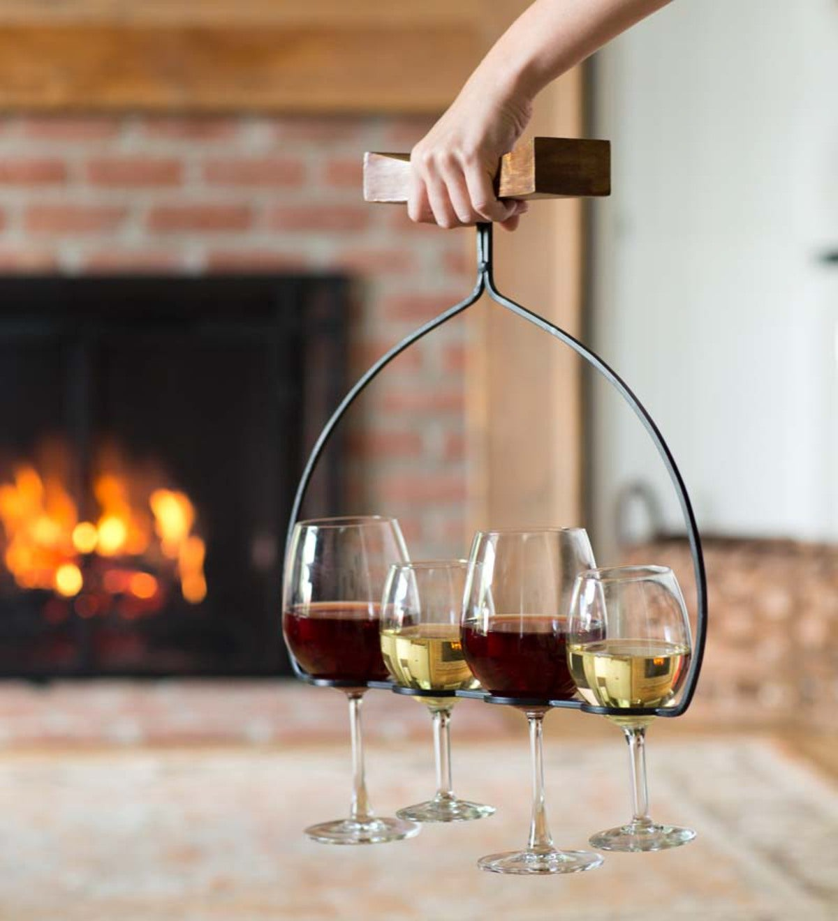 Wine Flight Wine Glass Holder And Server Plowhearth