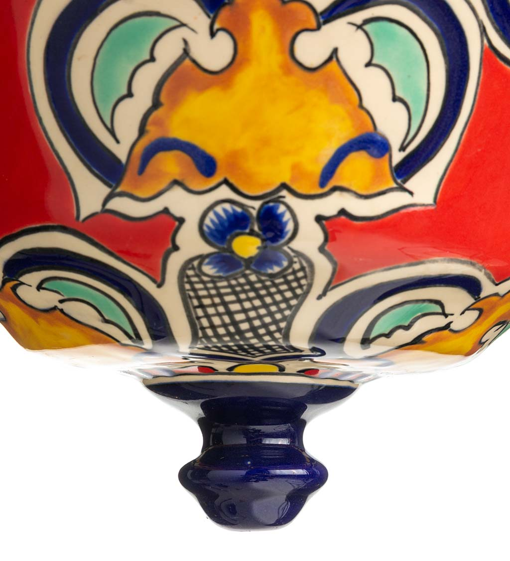 Authentic Mexican Talavera Hanging Planter
