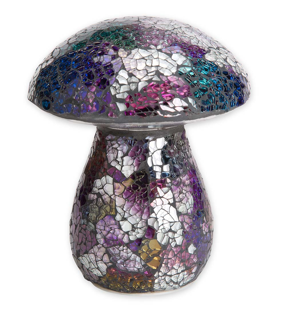 Glass Mosaic Mushroom Lawn Ornament swatch image
