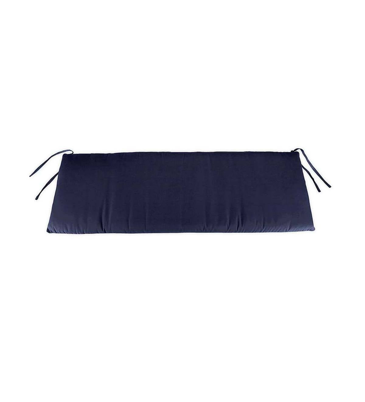 Box-Edged Polyester Deluxe Swing/Bench Cushion With Ties