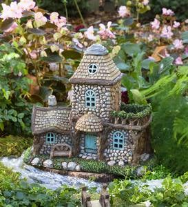 Miniature Garden Lighted Stone Fairy House