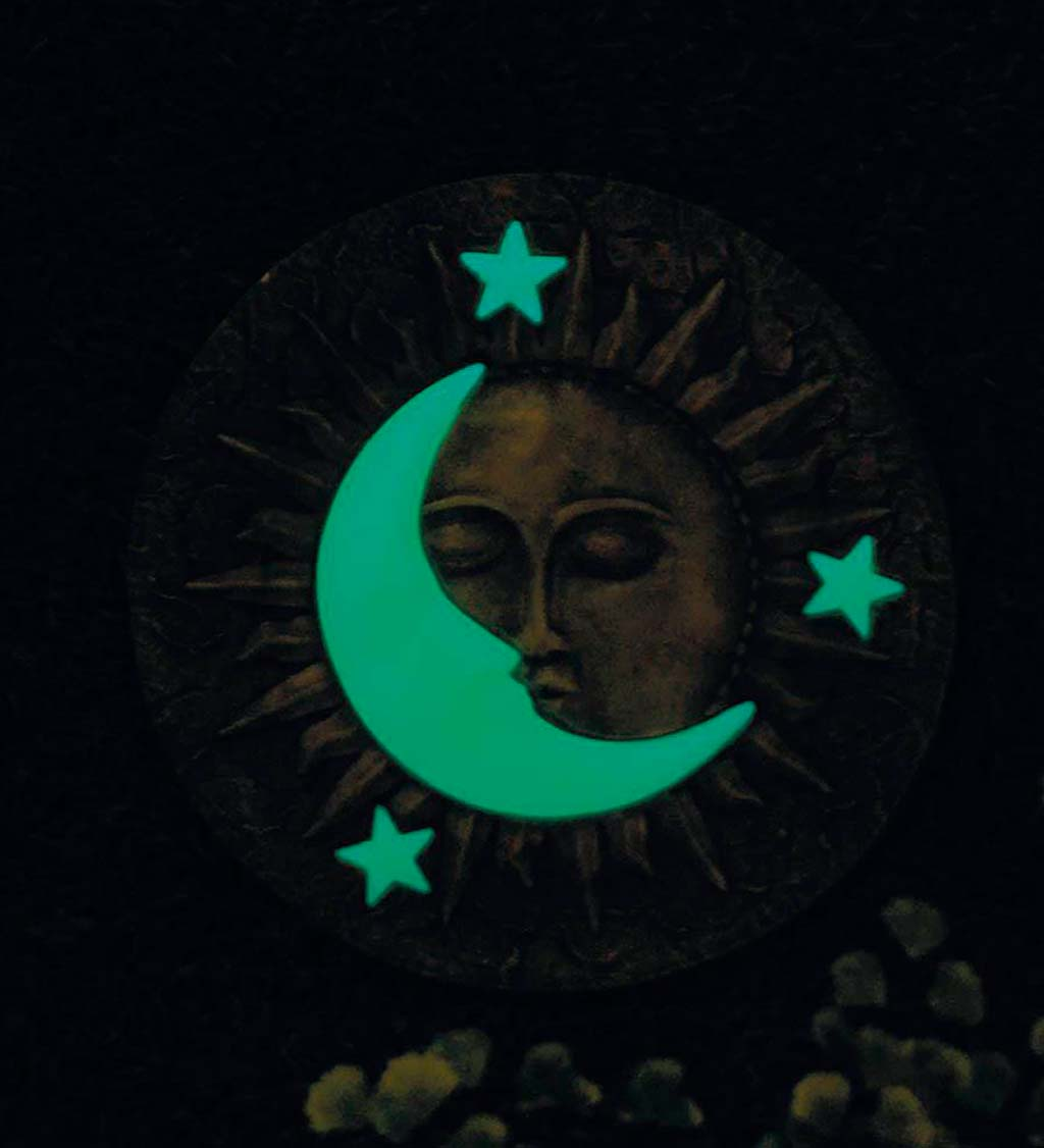 Sun, Moon and Stars Glow-In-The-Dark Garden Stepping Stone