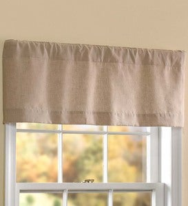 "Homespun Rod-Pocket Curtain Valance, 40""W x 14""L"