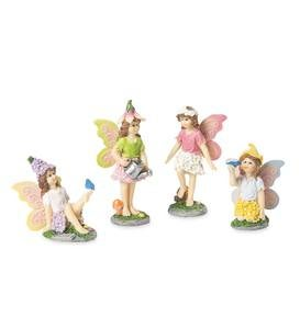 Miniature Fairy Garden Fairies, Set of 4