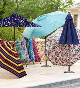 Classic Patio Market Umbrella with Aluminum Pole, 9' dia.