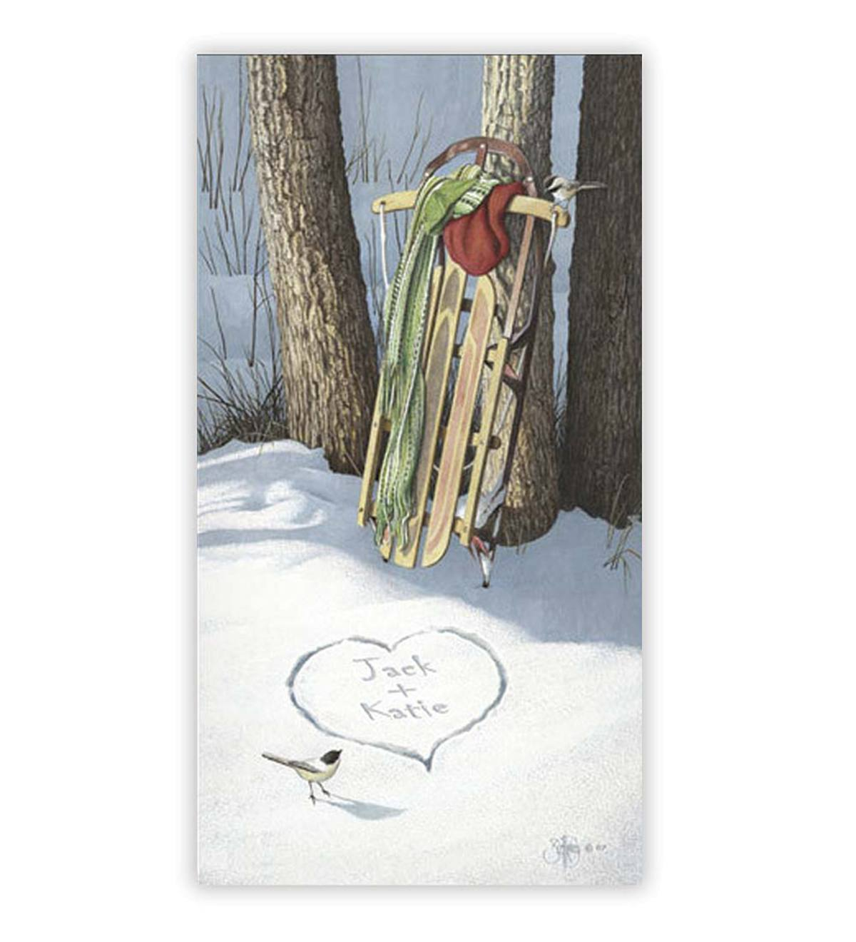 Unframed Cold Days & Warm Hearts Personalized Print