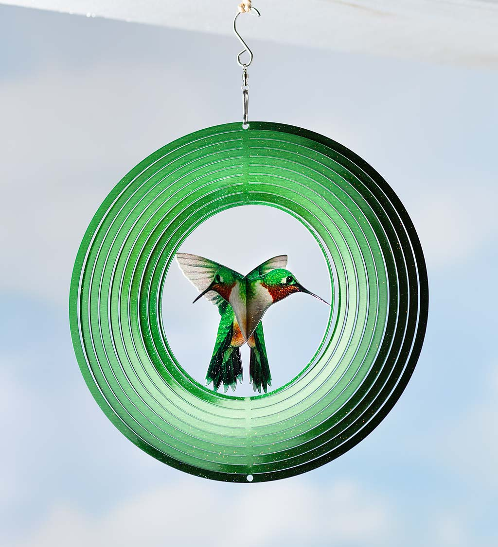 Hanging Metal Flyer Optical Illusion Spinner
