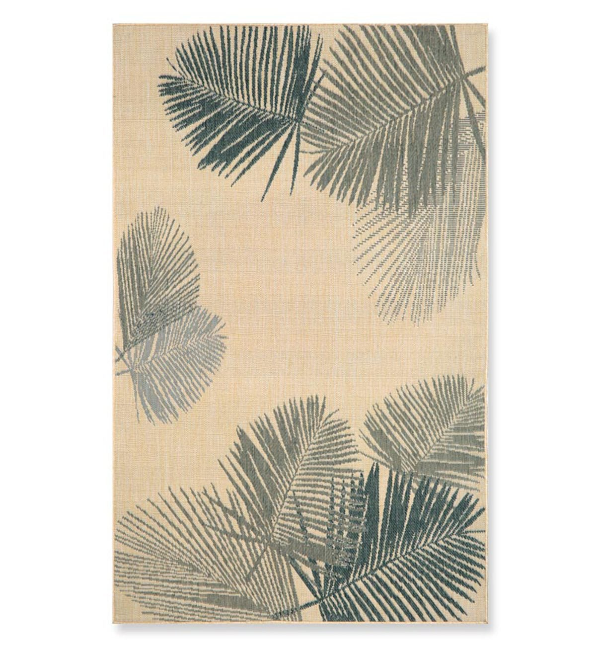 "39""x 59""Terrace Palms Indoor/Outdoor Rug - Silver"