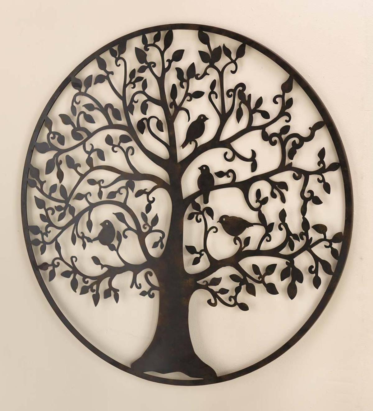 Bird Tree Wall Art in Metal