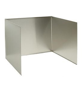 Stainless Fireplace Reflector With Full Sides