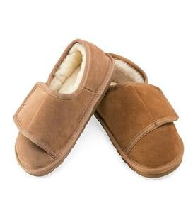 Sheepskin Wrap Bootie Slippers for Men