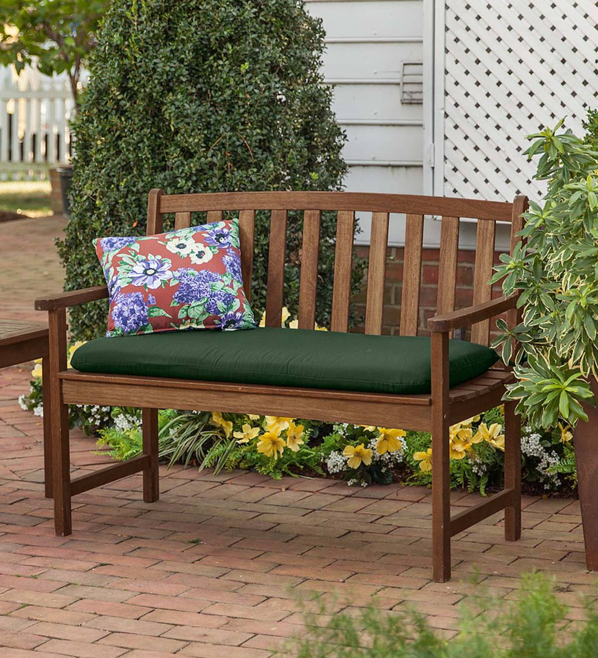 Plow And Hearth Furniture: Eucalyptus Wood Bench, Lancaster Outdoor Furniture