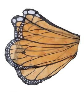 Fabric Monarch Butterfly Wings for Dress-Up Play - Orange