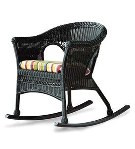 Easy Care Resin Wicker Rocker And End Table