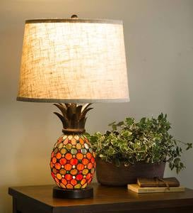 Pineapple Stained Glass Table Lamp
