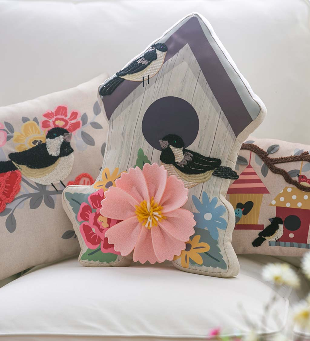 Birdhouse Shaped 3D Throw Pillow