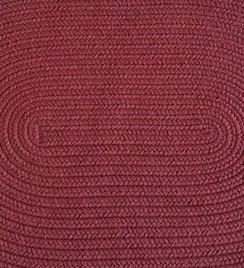 8'W x 11'L Braided Rug - Burgundy Solid