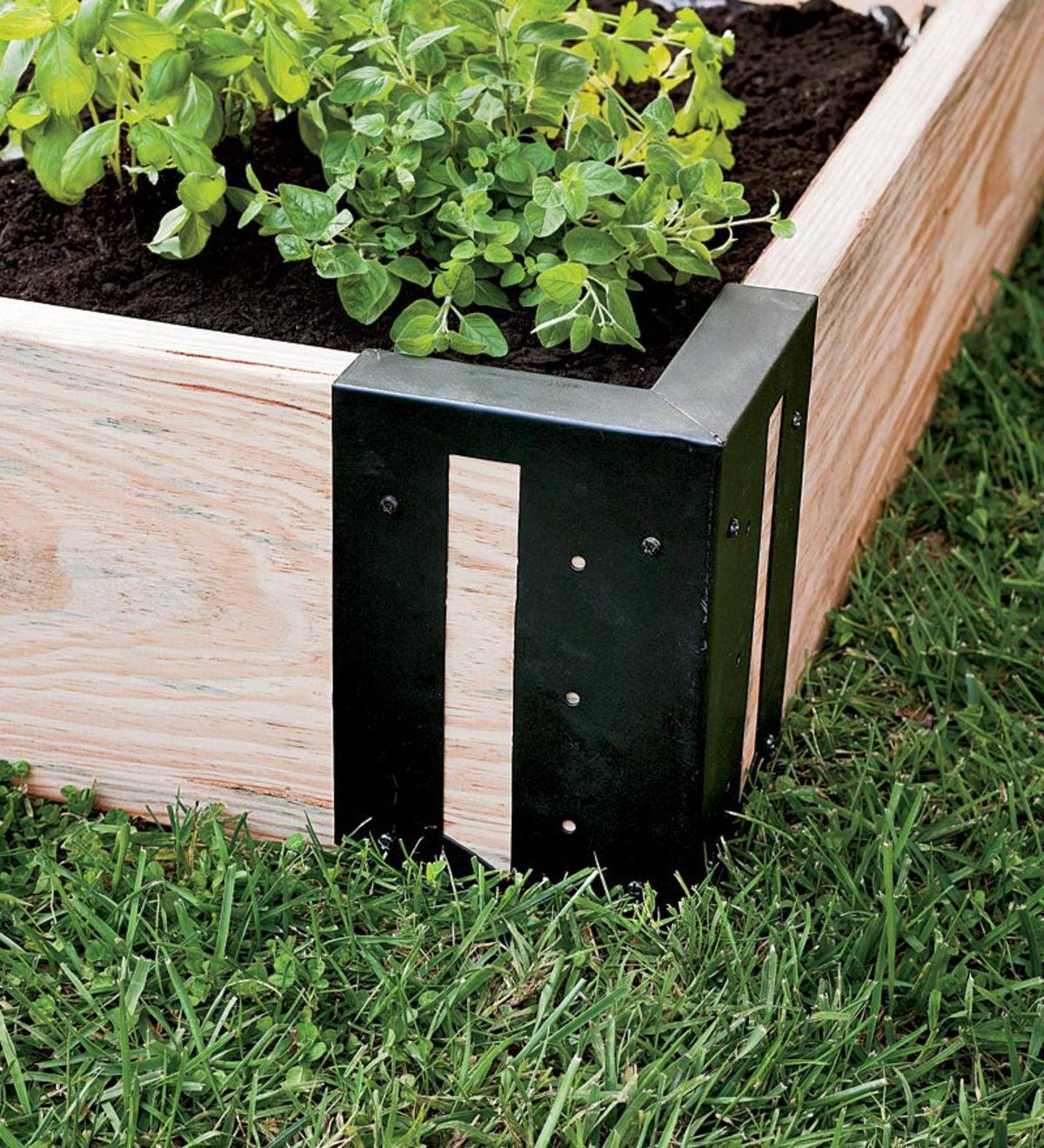 Steel Raised Garden Bed Corner Brackets Set Of 4 Plowhearth