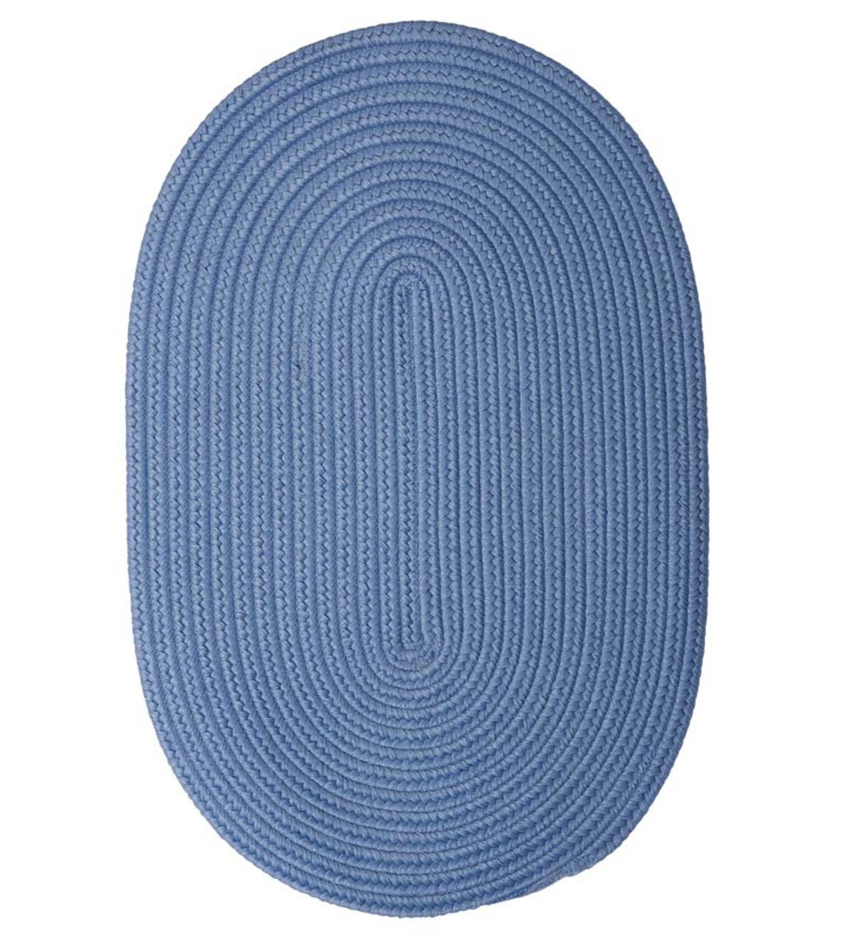8' Round Braided Rug - French Blue