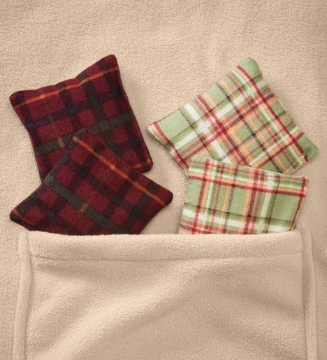 Set Of 2 Cotton Flannel Scented Hand Warmers
