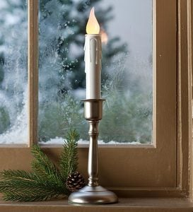Battery-Operated Cordless Candle With Auto Timer
