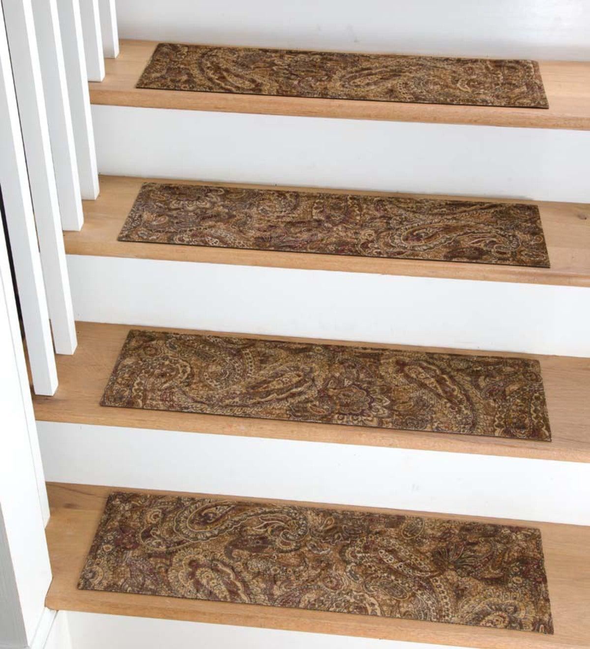 "Microfiber Stair Treads, Set of 4, 8½""x 30"""