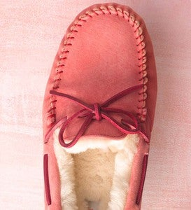 UGG Australia Womens Dakota Moccasin Slippers - Coral Reef - Size 9