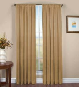 "Sheer Linen Panel with Rod Pocket, 52""W x 96""L"