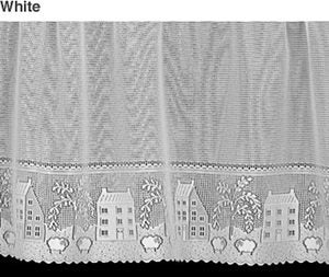 "17""H x 60""L Country Willow Lace Valance - WHITE"