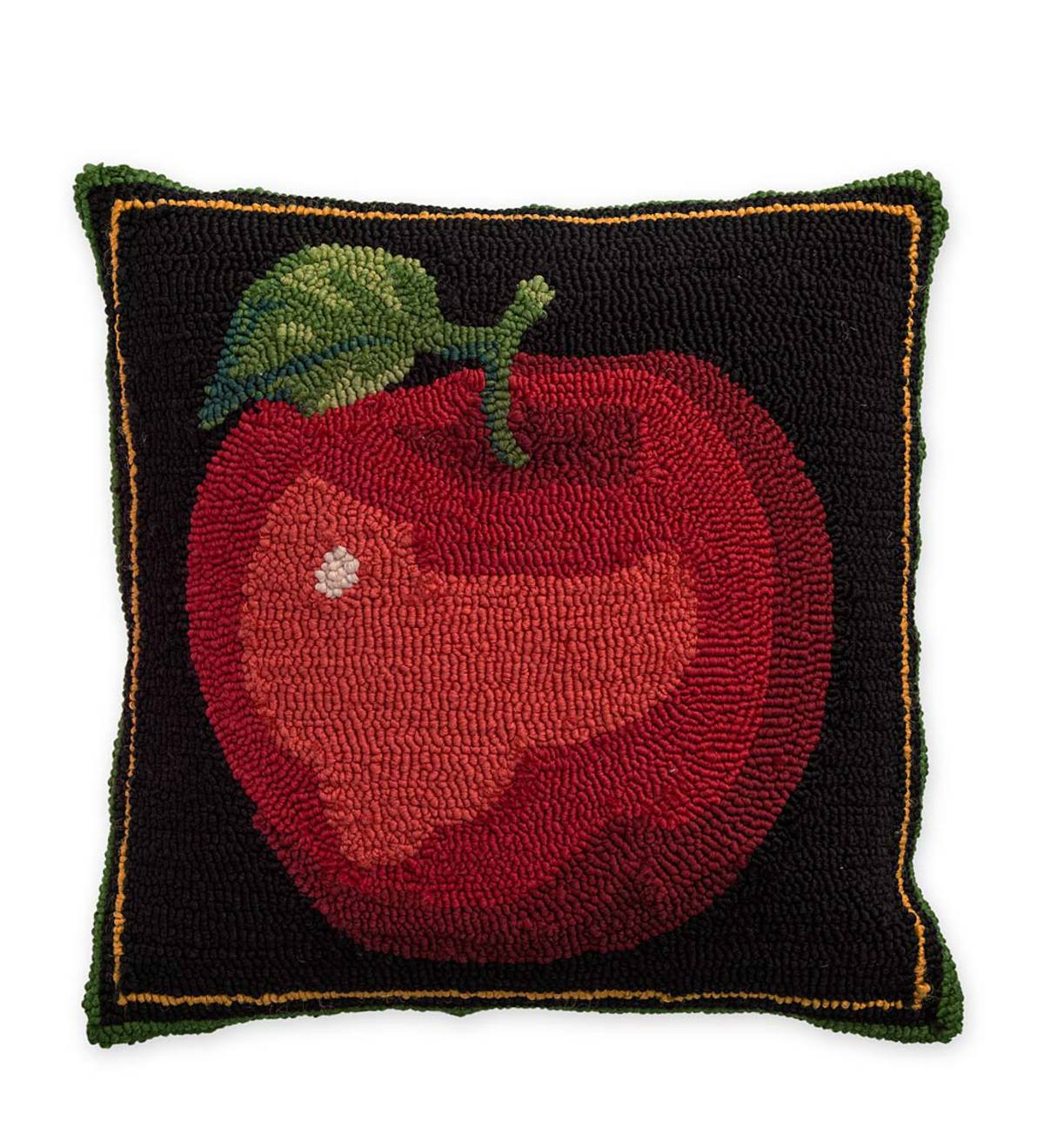 Indoor/Outdoor Apple Throw Pillow