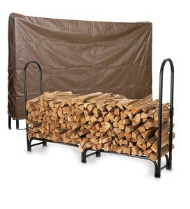 Heavy-Duty Steel Log Racks, Vinyl Covers And Sets