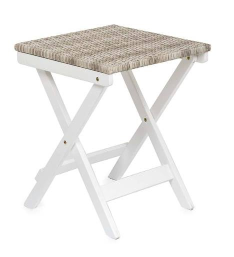 Claytor Folding Eucalyptus Outdoor Side Table