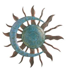 Verdigris Sun And Moon Wall Art