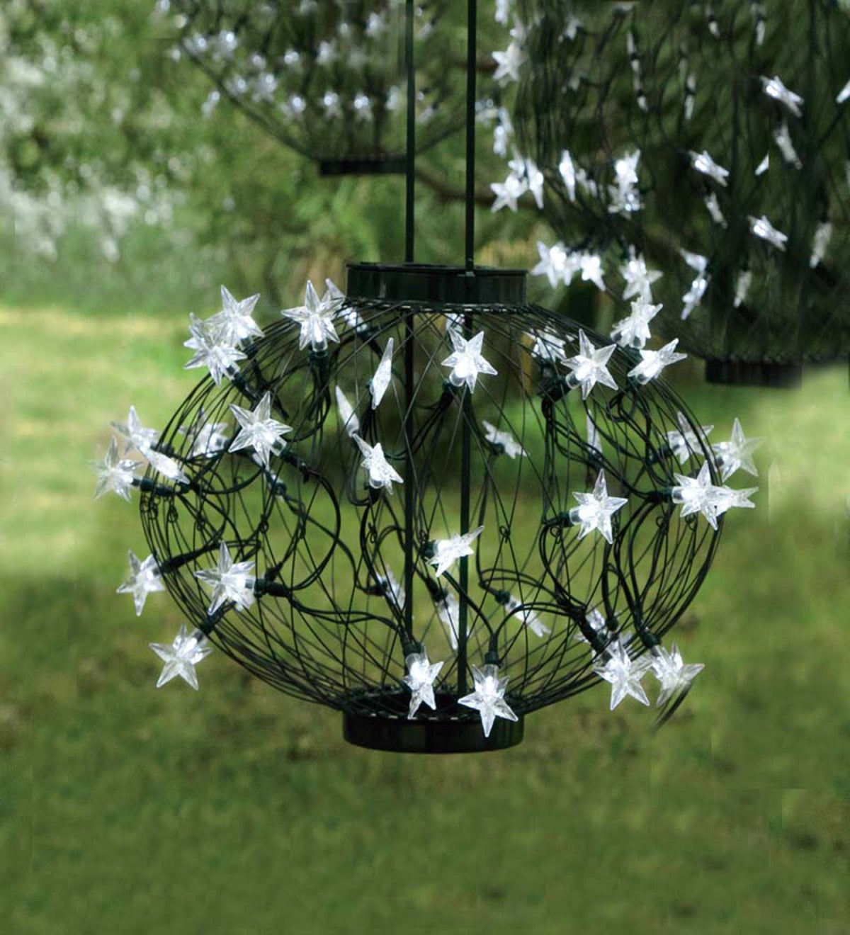 Small Green Solar Star Lantern