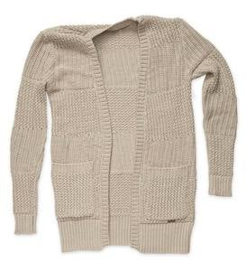 Women's Relaxed Fireside Open-Front Cardigan Sweater - Marled Sand - L/XL (12-14)