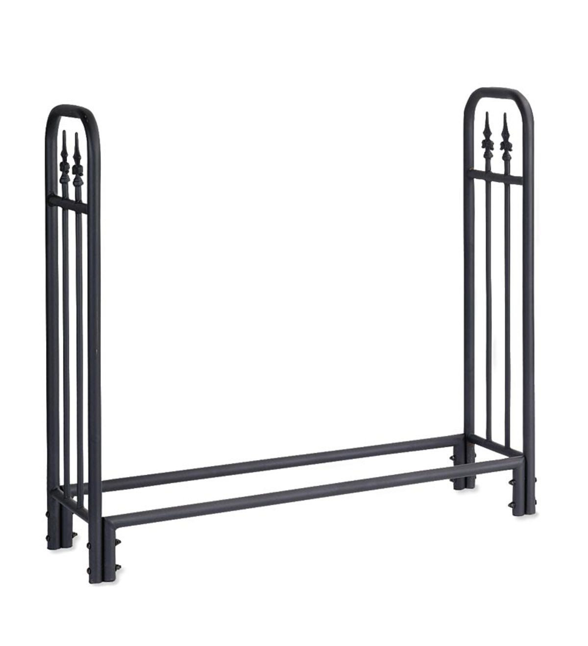 Medium Heavy Duty Steel Wood Rack with Finial Design