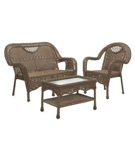 Outdoor Wicker Coffee Table, Prospect Hill - Beach House Walnut