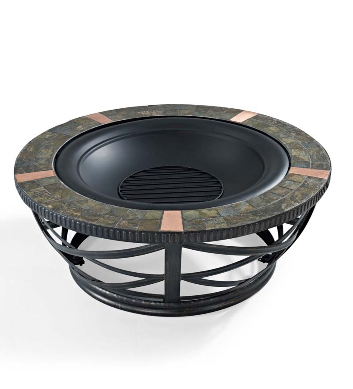 Glendale Round Slate Tile Fire Pit Plowhearth