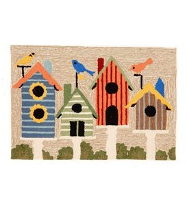 Birdhouses Indoor/Outdoor Rug
