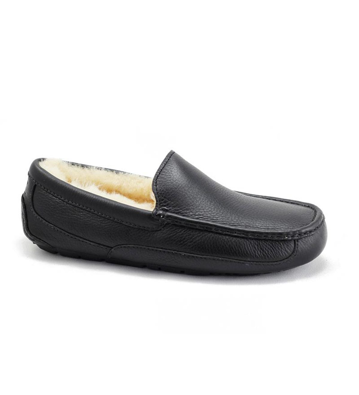 02ada1f3833 UGG® Australia Men s Leather Ascot Slippers - Black Leather ...
