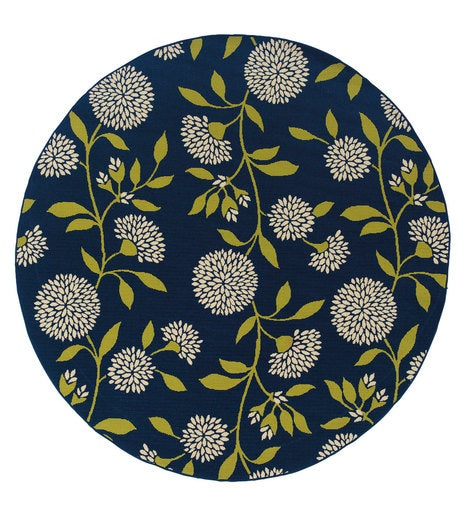 Round Floral Surry Rug, 7'10""