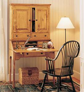 Schoolmaster's Desk And Hutch