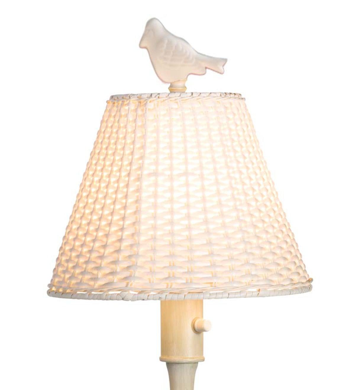 Waterproof Outdoor Wicker Floor Lamp Brown Plowhearth